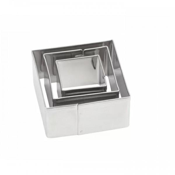 Комплект с 3 броя Метални Форми за Изрязване Makin's Квадрати