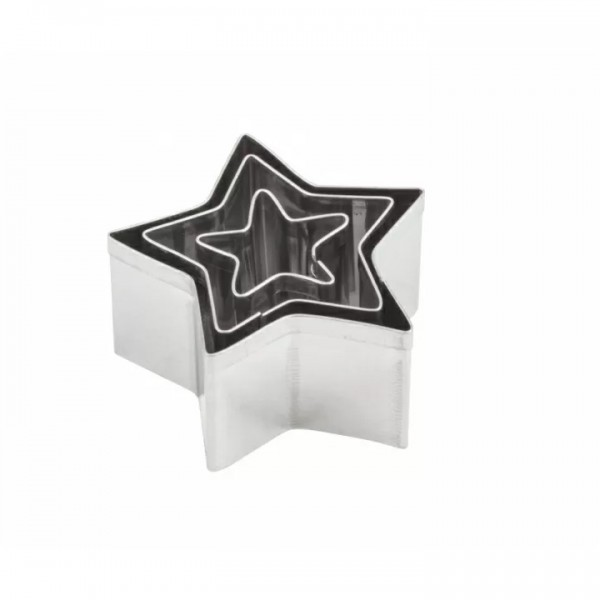 Комплект с 3 броя Метални Форми за Изрязване Makin's Звезди