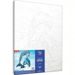 Комплект за Рисуване по Номера : Сложност II : Делфини