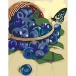 Комплект за Рисуване по Номера : Сложност II : Кошница с Боровинки