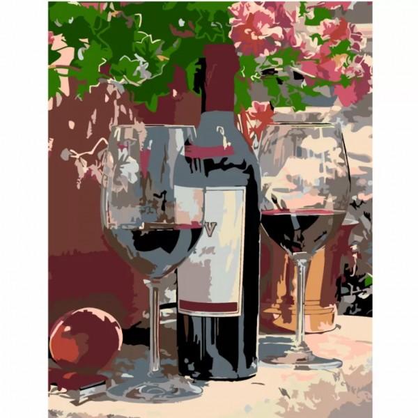 Комплект за Рисуване по Номера : Сложност II : Вино За Двама
