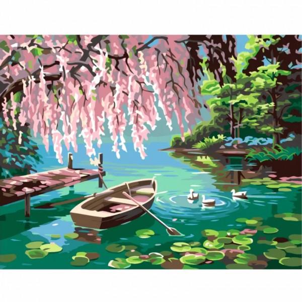 Комплект за Рисуване по Номера : Сложност III : Езерото на Мечтите