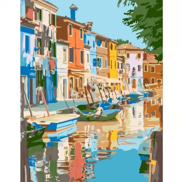 Комплект за Рисуване по Номера : Сложност III : Къщи на Канала