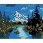 Комплект за Рисуване по Номера : Сложност III : Планински Пейзаж