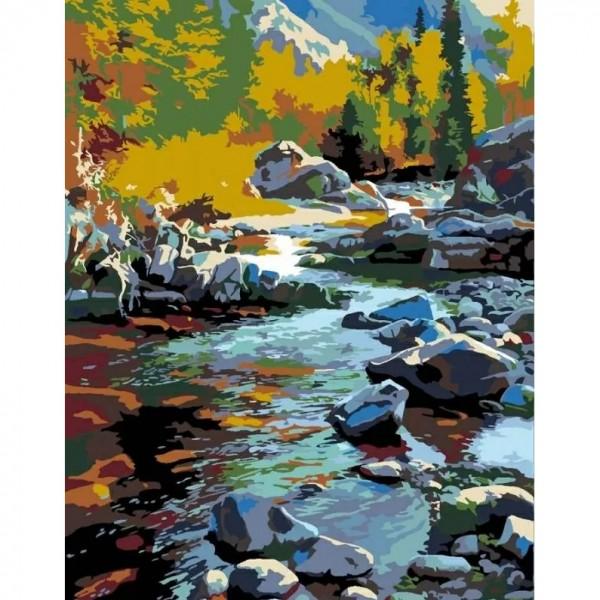 Комплект за Рисуване по Номера : Сложност III : Планински Поток