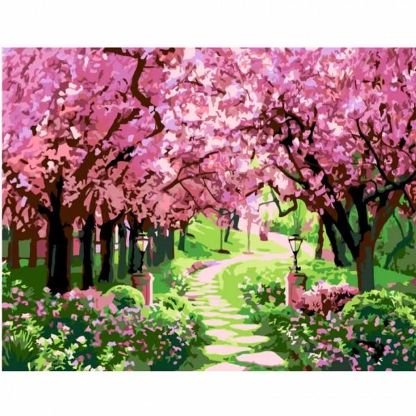 Комплект за Рисуване по Номера : Сложност III : Вишнева Градина