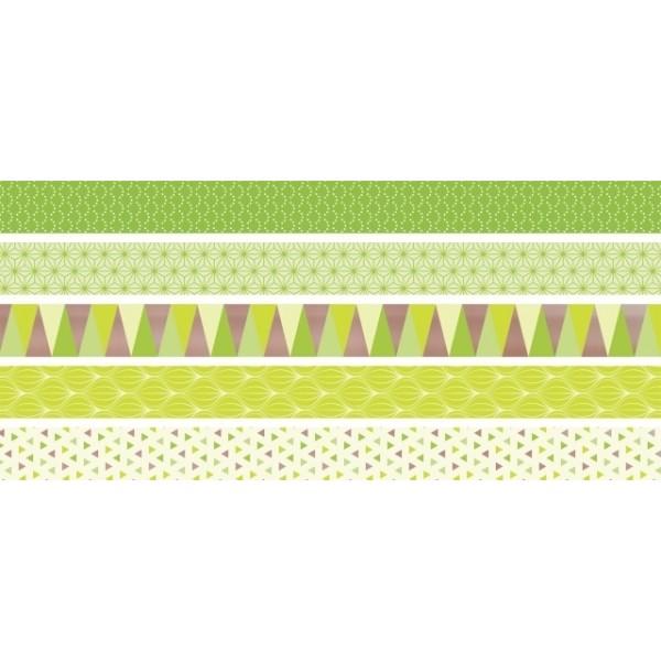 Лепяща лента Heyda Mini 12 mm 5 броя * 3 m +lime