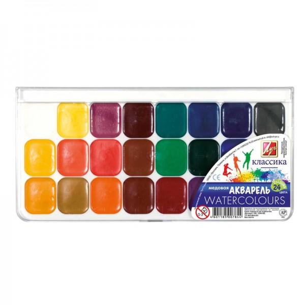 Комплект акварелни бои Luch класика 24 цвята