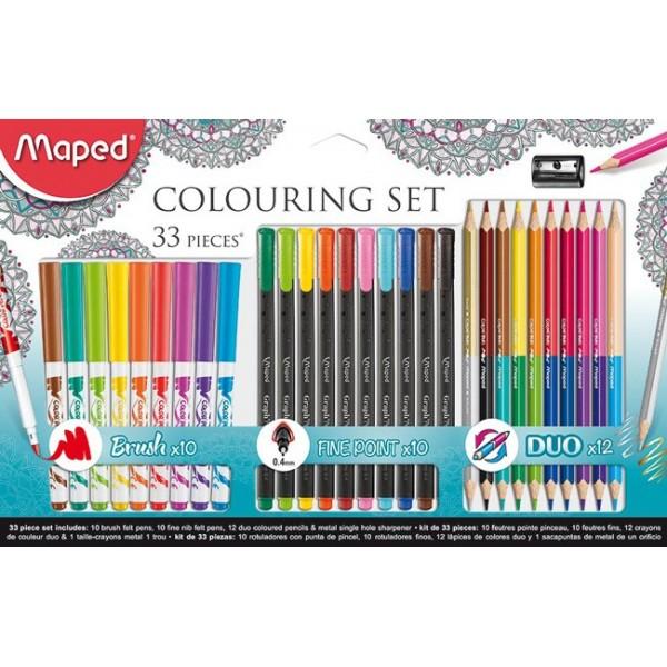 Комплект за рисуване Maped Colouring Set, 33 части
