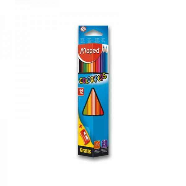 Цветни моливи Maped, 12 цв.
