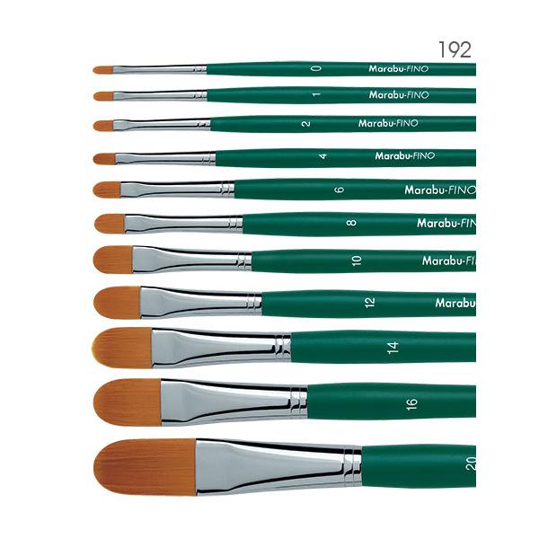 Fino Marabu серия 192 - Четки за рисуване с фин синтетичен торейски косъм