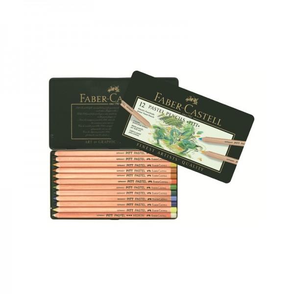 Пастелни моливи 12 цв. PITT Pastel - Faber Castell