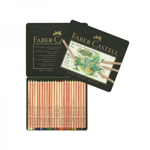Пастелни моливи 24 цв. PITT Pastel - Faber Castell