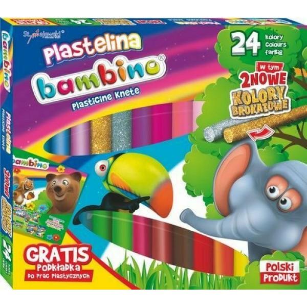 Пластилин Bambino 24цв.
