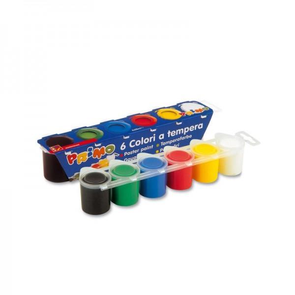 Комплект темперни бои Primo 6 цвята в бурканчета