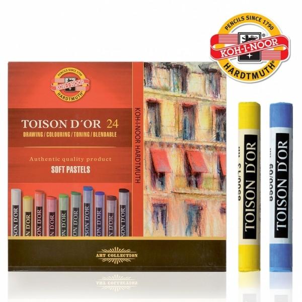 Комплект професионални сухи пастели 8514 24 цвята/кутия