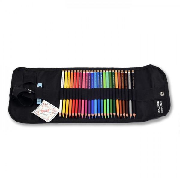 Професионални цветни моливи  KOHINOOR POLYCOLOR в кейс 24 цвята