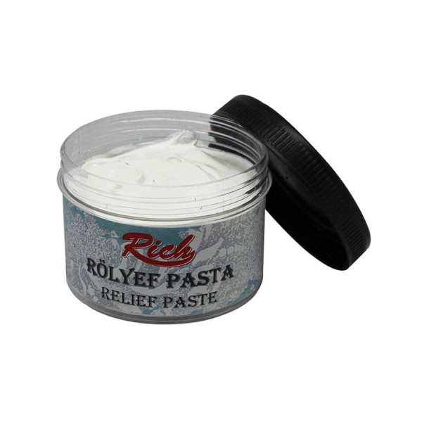 Релефна паста RICH 300гр - бяла