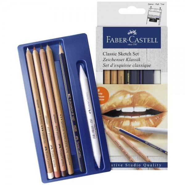 Рисувателен комплект 6 части - 114004 Faber-Castell