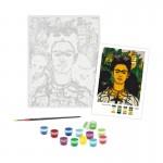Rosa комплект за Рисуване - Акрилни Бои - Шедьоври - Автопортрет с Трънена Огърлица и Колибри - Фрида Кало