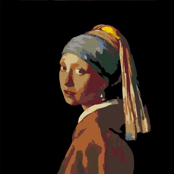 Rosa комплект за Рисуване - Акрилни Бои - Шедьоври - Момичето с Перлената Обица - Вермер