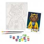 Rosa комплект за Рисуване по Номера - Акрилни Бои - Popart - Котка