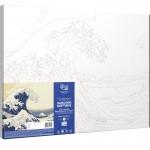 Rosa комплект за Рисуване по Номера - Акрилни Бои - Шедьоври - Голямата Вълна Край Канагава - Хокусай