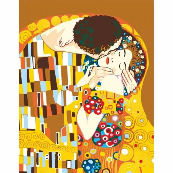 Rosa комплект за Рисуване по Номера - Акрилни Бои - Шедьоври - Целувката - Климт