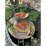 Rosa комплект за Рисуване по Номера - Акрилни Бои - Шедьоври - Златната Рибка - Матис