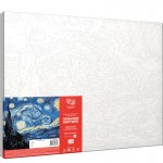 Rosa комплект за Рисуване по Номера - Акрилни Бои - Шедьоври - Звездна Нощ - Ван Гог