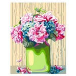 Rosa комплект за Рисуване по Номера - Акрилни Бои - Стандарт - Божури