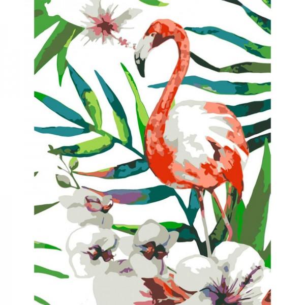 Rosa комплект за Рисуване по Номера - Акрилни Бои - Стандарт - Фламинго