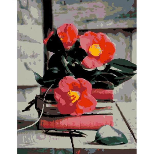 Rosa комплект за Рисуване по Номера - Акрилни Бои - Стандарт - Хармония