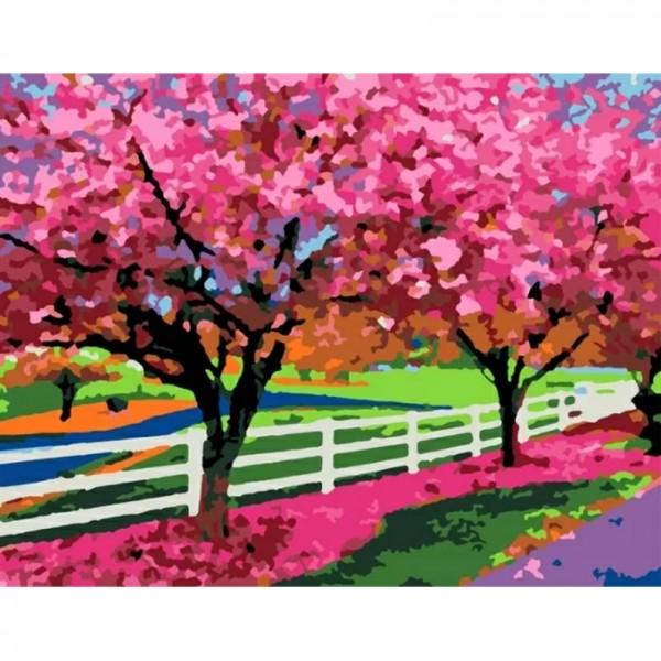Rosa комплект за Рисуване по Номера - Акрилни Бои - Стандарт - Пролетен Ден
