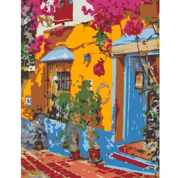 Rosa комплект за Рисуване по Номера - Акрилни Бои - Стандарт - Ресторант в Испания