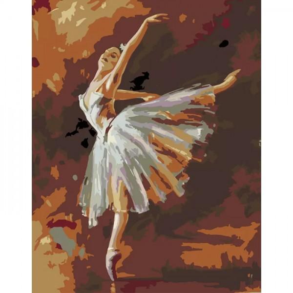 Rosa комплект за Рисуване по Номера - Акрилни Бои - Стандарт - Шедьоври - Балерина - Дега