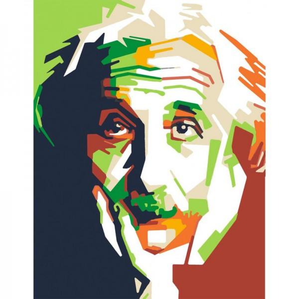 Rosa комплект за Рисуване по Номера - Акрилни Бои - Стандарт - Super Stars - Einstein