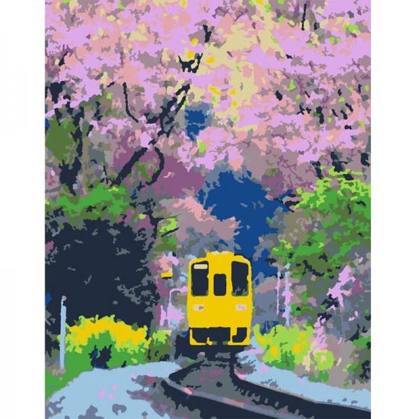 Rosa комплект за Рисуване по Номера - Акрилни Бои - Стандарт - Трамвай