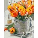 Rosa комплект за Рисуване по Номера - Акрилни Бои - Стандарт - Жълти Лалета