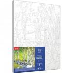 Rosa комплект за Рисуване по Номера с Акрилни Бои : Брези