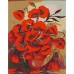 Rosa комплект за Рисуване по Номера с Акрилни Бои : Макове във Ваза