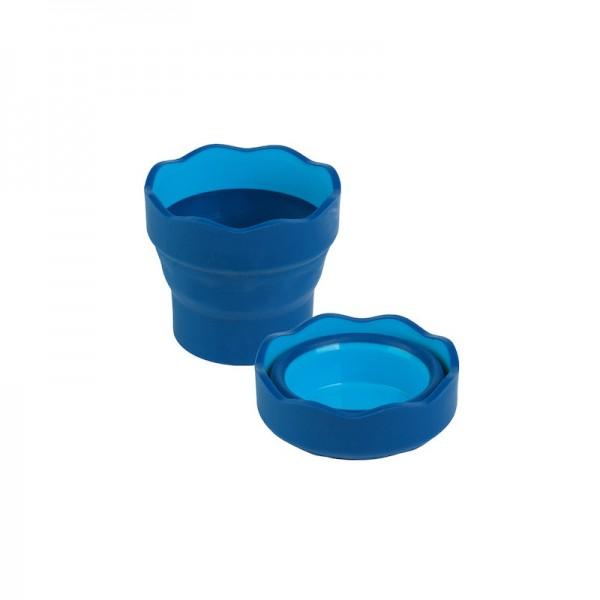 Сгъваема чаша за вода - Clic & Go - синя