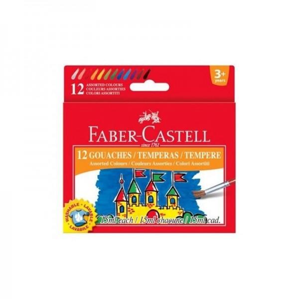 Темперни бои 12 цв. х 15 ml - Faber-Castell