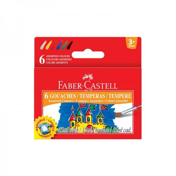 Темперни бои 6 цв. х 15 ml - Faber-Castell