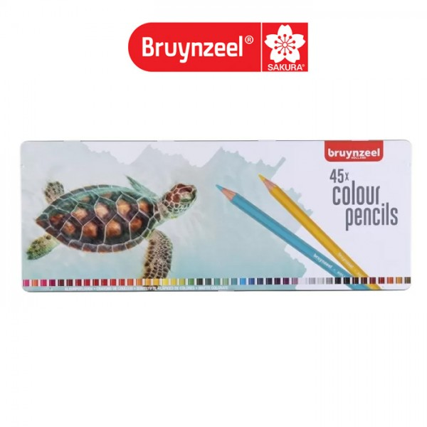 Цветни Моливи : Bruynzeel : за Подарък : 45 Цвята : Костенурка