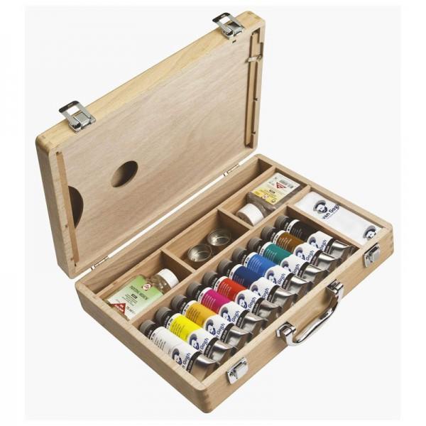 VAN GOGH OIL BOX - К-кт маслени бои и помощни материали лукс