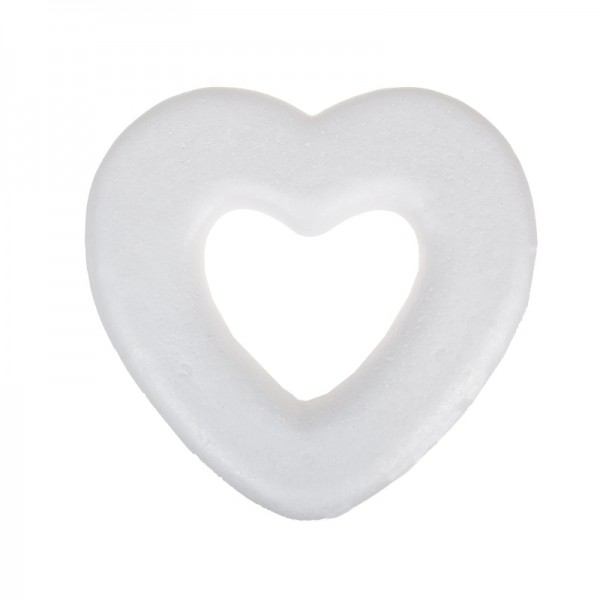 Венец от Стиропор с Форма на Сърце - 26 cm 3 броя