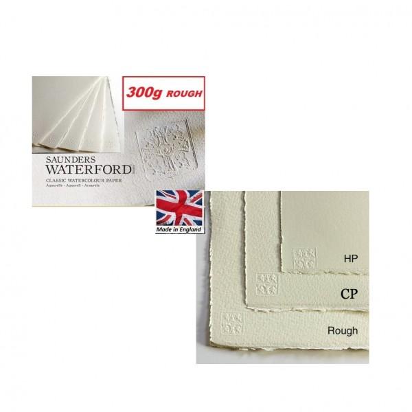 SAUNDERS WATERFORD ROUGH 300g 76 x 56 - Професионален акварелен ръчен картон 100% памук