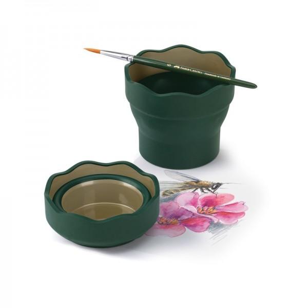 Сгъваема чаша за вода - Clic & Go - зелена